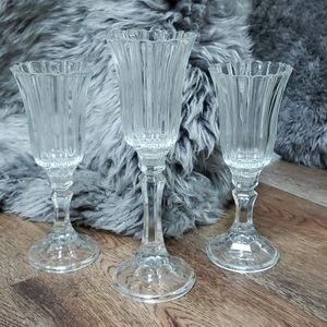 4/$30 Set of 3 glass candle holders